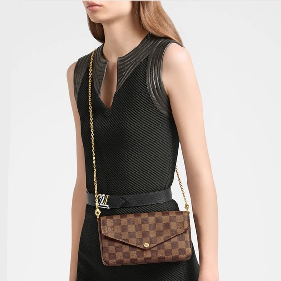 🖤🤎🖤Louis Vuitton Fecilie Damier Ebne Crossbody